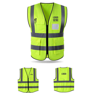 Hi Vis Yellow Traffic Safety Wholesale Heavy Duty Work Vest