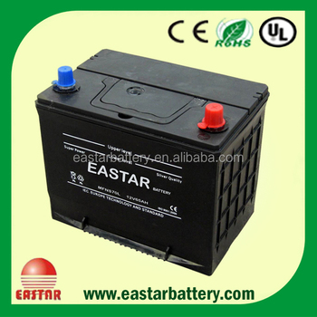 Chine Mf N70 12V 70Ah Japon Batterie de voiture de Stockage