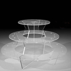 3 Tiers Clear Acrylic Push Up Pops Display Stand Cupcake Lollipop Display Stand