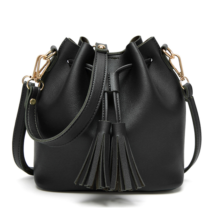 Osgoodway2 Ladies Drawstring Bucket Bag Fashion Small Crossbody Women Leather Bags Handbags