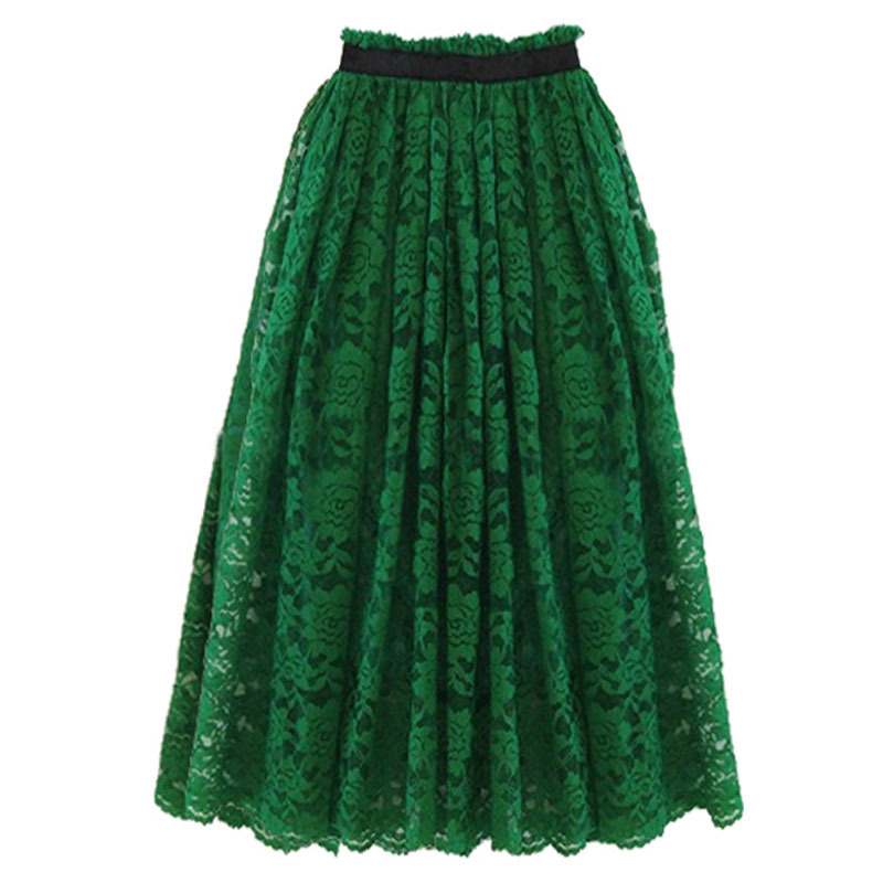 Long Black Straight Skirt 94