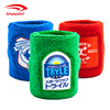 Elastic printed terry cotton cloth sport sweatbands with logo