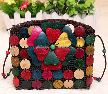 Whole Handmade Stylish Coconut Shell Bag Handbag