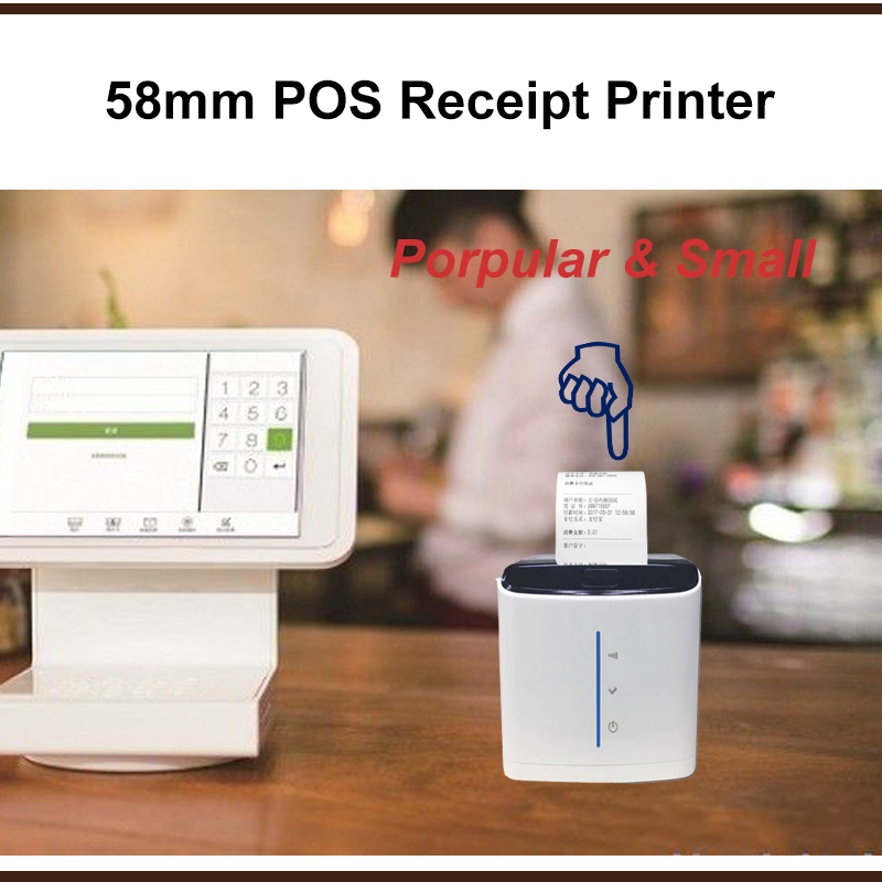 Support 58mm USB Bluetooth Thermal Receipt POS Printer HCC-POS58D-UBT