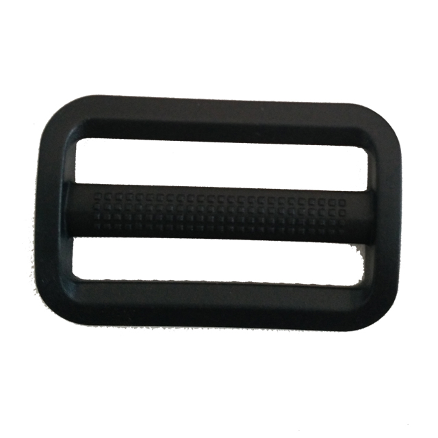 Fashion double webbing slider black plastic tri glide buckle