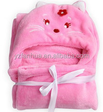 High Quality Reasonable baby blanket embroidery patterns Coral Fleece Blanket