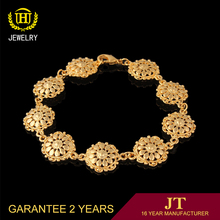 Luxury filled diamond bracelet jewelry 18k gold bracelet