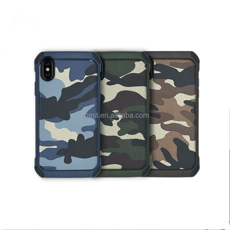 For iPhone 8 New Case Camouflage PC+TPU Cover Shockproof Military Anti Drop Case