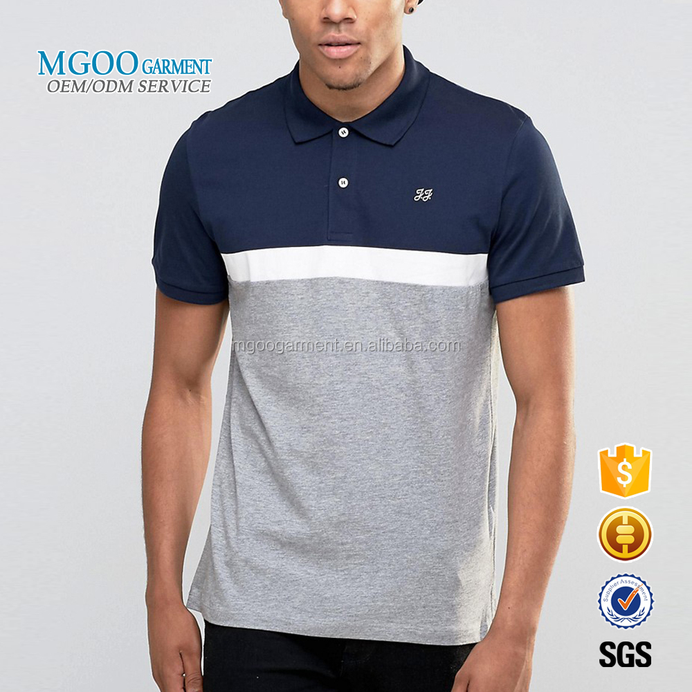 Mgoo 2017 New Style Custom Embroidery Logos Front Polo Shirts 3