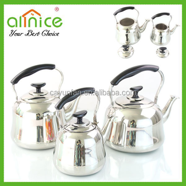 Induction Stainless steel kettle with wooden handle/boiling water pot/stainless steel gas water kettle
