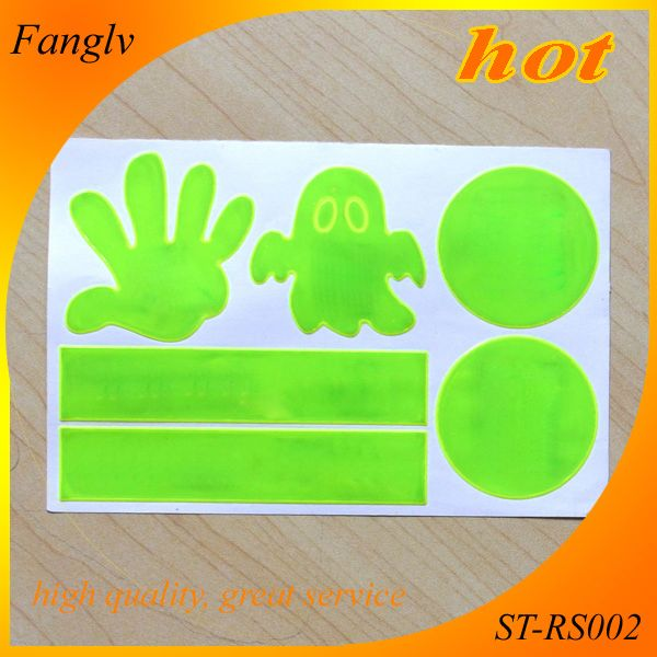 price glow in the dark fluorescent sticker Reflective,safety gift best service god loves the world reflective sticker