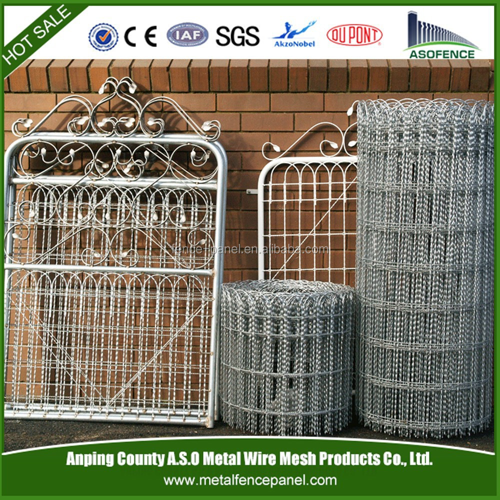 Decorative wire fence iron