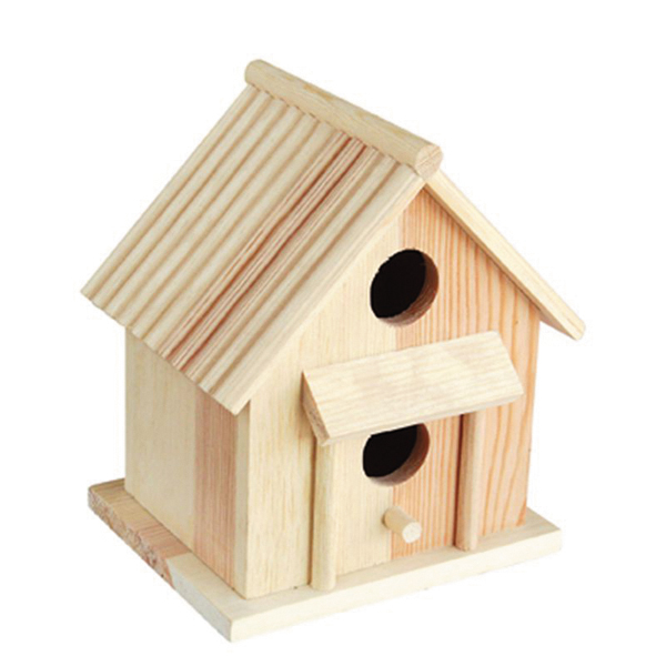 High quality wooden bird nest/small wood craft animals cages cheap