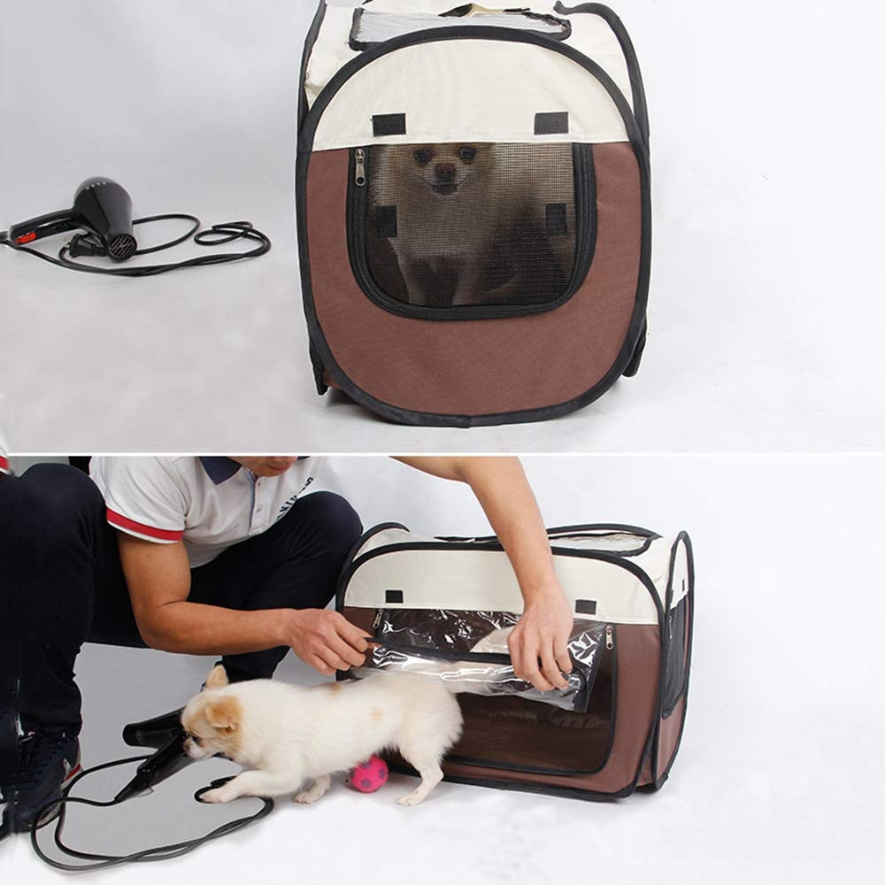 Pet Hair Drying Box Portable Pet Hair Drying Box Folding Cage Travel Bag for Cats Dogs