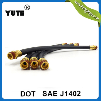 compression parts 1/2 inch synthetic rubber air brake hose for semi trailer