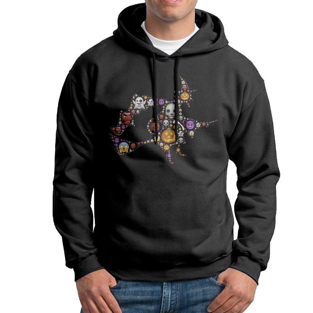 get quotations mens colorful cute happy halloween witch black hoodie sweatshirt
