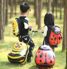kids trolley luggage Beatles bees design school trolley bags lovely suitcase for kids