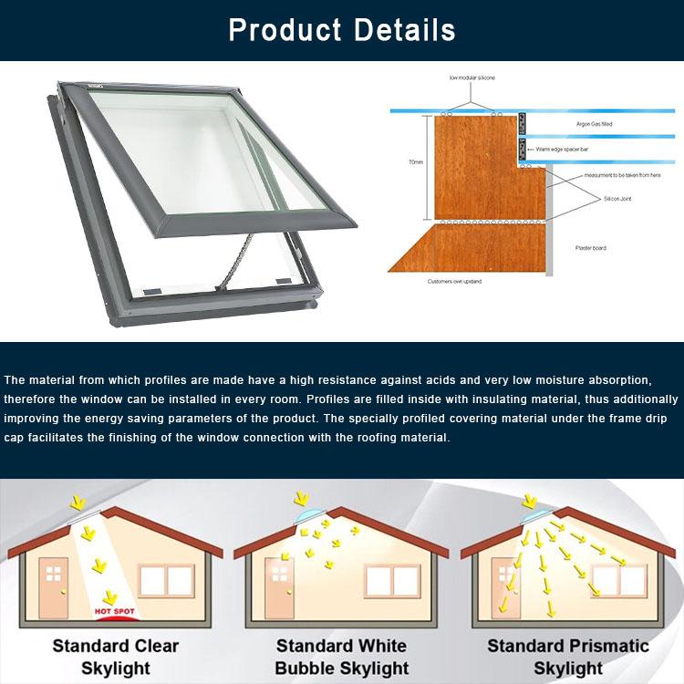 Prefabricated House Skylight Factory Awning Roof Skylight ...