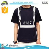 black collar silk screen print fashion tshirt packaging