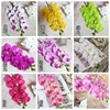 Phalaenopsis manufacturers High quality 9 heads pu Orchids annual flower wedding real touch flower