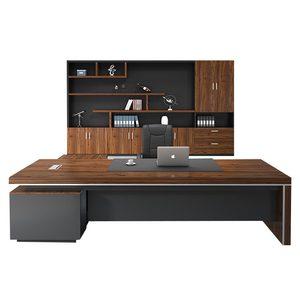 Modern Lasted Luxury CEO Boss Executive Desk Large Frame Fashion Wooden Furniture Office Table