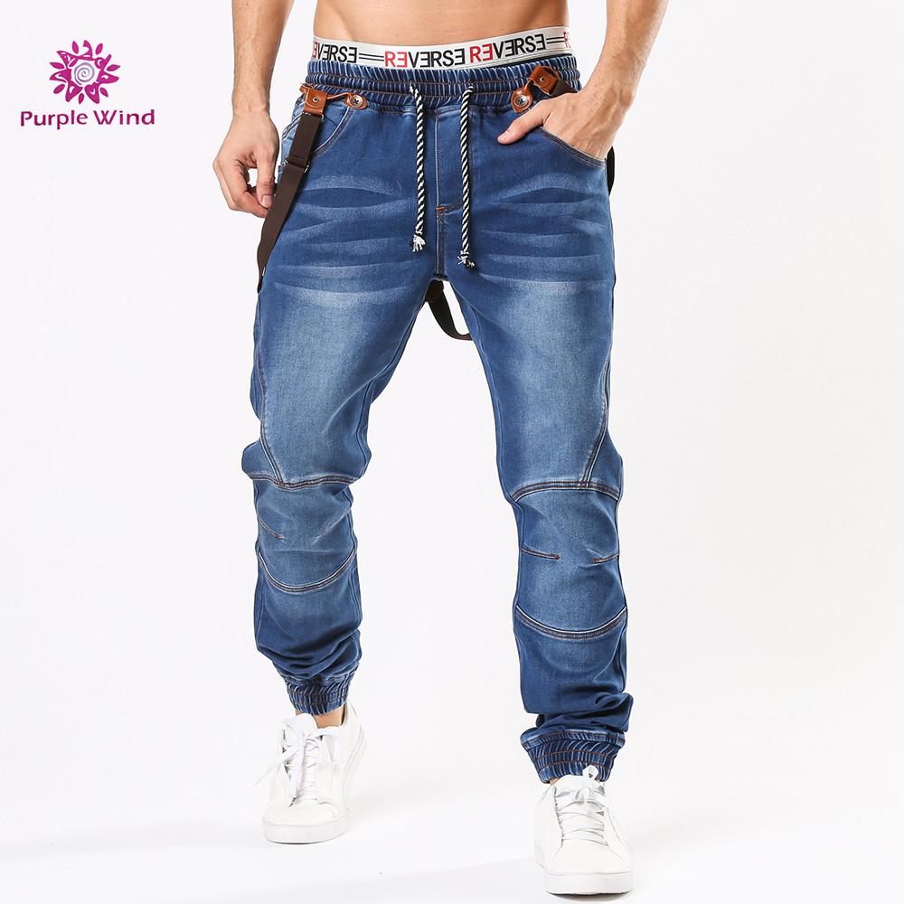 Men S Jogger Jeans With Braces Elasticated Waistband And Ankles Decorative Stitching Soft Cotton Blend Denim Pants Buy Jogger Jeans Mens Braces Jeans Men Denim Product On Alibaba Com