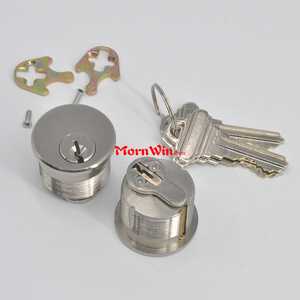 High Security Satin Chrome Quality Brass Rounded Door Mortise Lock Cylinder