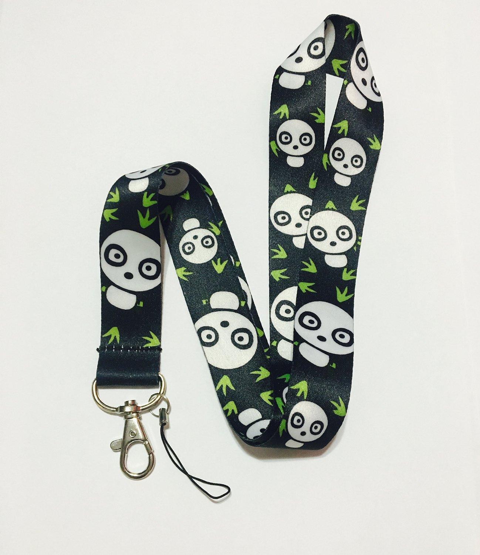 PSdeals Anime Fashion Panda Lanyard Black Key Chain Badge ID Holder