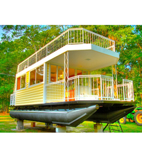 DIY build your own tiny house transport fishing caravan boat floating pontoon