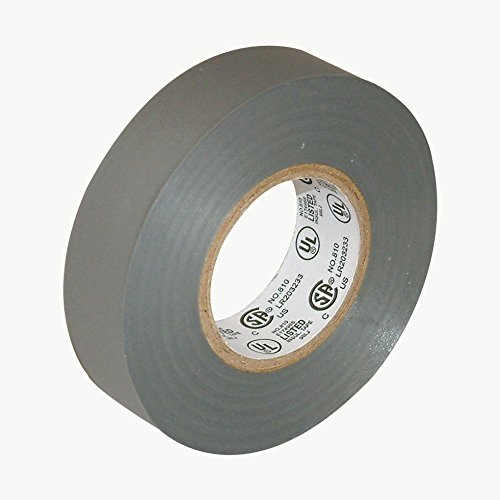 """J.V. Converting E-TAPE/GRY07522 JVCC E-Tape Colored Electrical Tape, 66' Length x 3/4"""" Width, Gray"""
