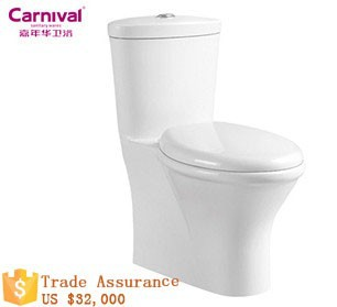 Ceramic hot sale one piece toilet bowl A89