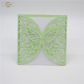 Mint Green Laser Cut Butterfly Wedding Invitation Cards Buy Wedding Invitation Cards Butterfly Wedding Invitation Cards Mint Green Wedding