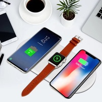 Qi Wireless Charger Quick 3 in 1 Fast Charging 10W 7.5W/2A Chargers for Apple Watch For Iphone X Samsung SmartPhones