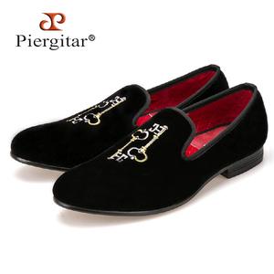 3f6a98e07cc Piergitar Men Velvet Loafer Shoes