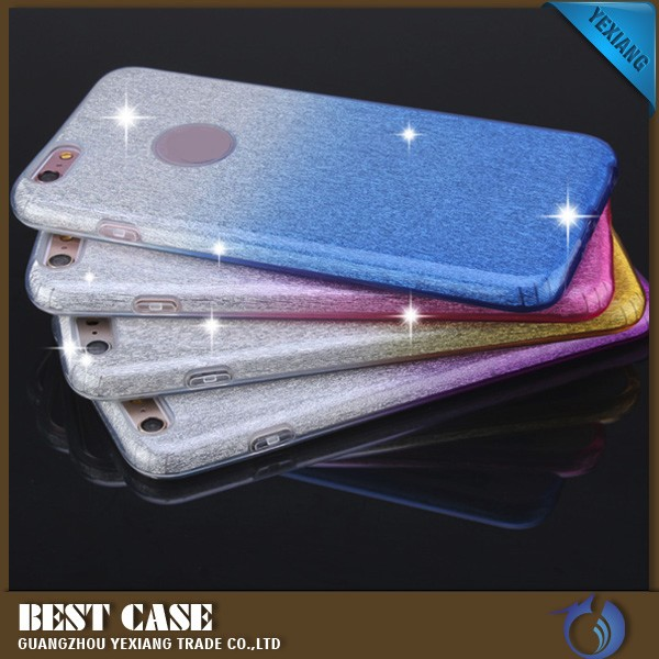 Wholesale Case Cover For iPhone 4 Gradient Ramp Colorful Glitter TPU case