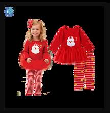 ed0a3811a669b3 Nieuwe Mode Meisjes Kerst Outfit Rood 2 Stuk Baby Kerst Kleding
