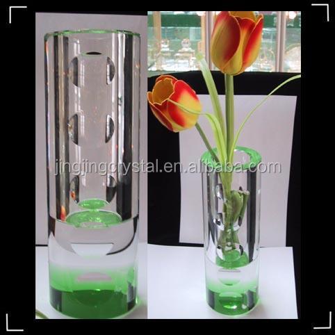 high flower vases hot sale k9 crystal high quality glass flower vase painting