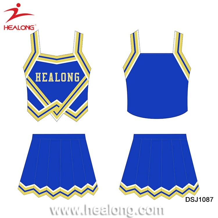 Wholesale Design Your Own Size Custom Cheerleading Uniforms