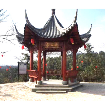Ming Qing style classical scenic garden building