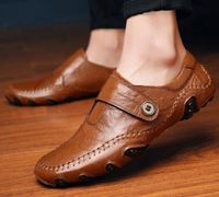 wholesale men leather dress shoes male flat loafer shoes