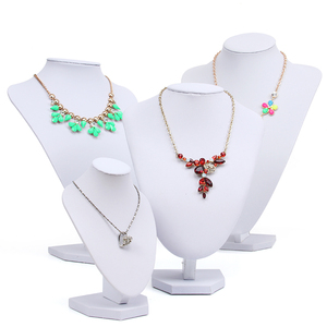 White Leather China supplier high end Jewelry necklace display neck shape bust for sale stand