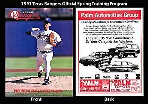 1991 Texas Rangers Official Spring Trainnig Program Nolan Ryan Authentic Vintage