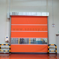 Insect prevention rapid roller door PVC fast rolling shutter door for commercial