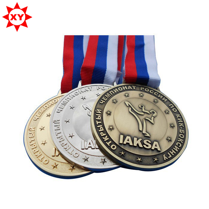 Cute <strong>design</strong> with low price custom metal medals with medal lanyard