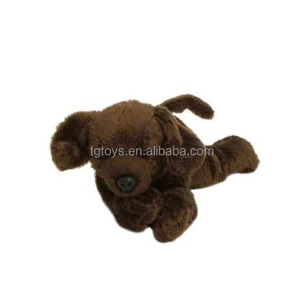 Wholesale Cheap price small qty 18cm Chocolate Labrador soft dog toy