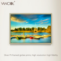 Fashion knife landscape painting beautiful coaster village scenery oil painting for wall arts