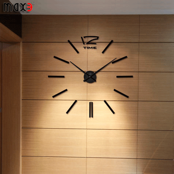 Big Wall Clocks Watch Art Home Decoration Hours 3d Black Stickers ...