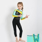 Rubber material imported sponge jumpsuits 2.5mm girl wetsuit children swimwear