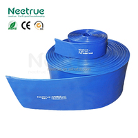 Neetrue 16 Inch Blue PVC Lay Flat Water Pump Irrigation Discharge Hose