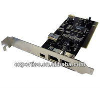 4 Ports Firewire IEEE 1394 4/6 Pin PCI Controller Card